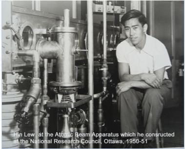 圖片 3 廖若軒在加拿大國家研究院製造出的原子束設備(廖若軒提供)