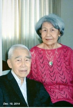 圖片 9 廖若軒,93歲,林慧愛,80歲,2014年在渥太華家中 (廖若軒提供)