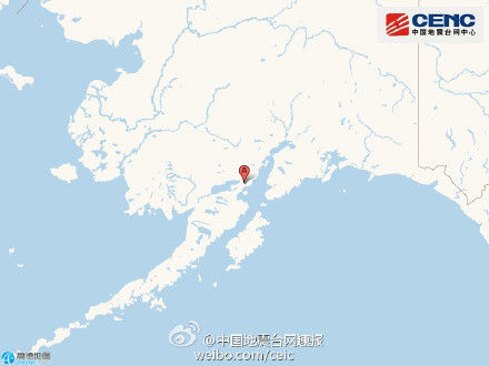 美国阿拉斯加州南部发生7.4级左右地震(图)