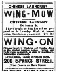 图片 3 华人洗衣店广告(来源:《渥太华新闻报》)